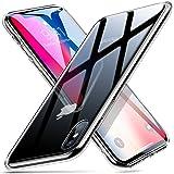 ESR Cover iPhone X, Custodia Protettiva in Vetro Temperato 9H [Asseconda Il Vetro Retrostante][AntiGraffio] + Cornice Paraurti in Silicone Morbido [Antiurti] per Apple iPhone X da 5.8 Pollici.