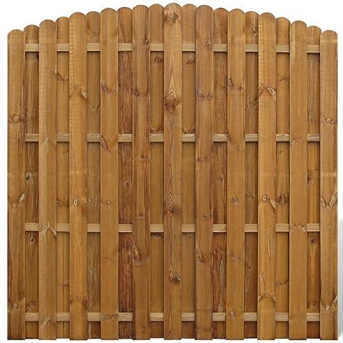Vidaxl Holz Kiefer Kdi Bogendesign Sichtschutzzaun Gartenzaun
