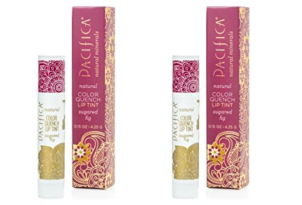 Pacifica Sugared Fig color Quench Lip Tint (Pack de 2) con aceite de coco