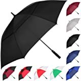 MRTLLOA Automatic Open Golf Umbrella, 62/68 Inch Extra-Large Oversized Double Canopy Vented Windproof Waterproof Stick…