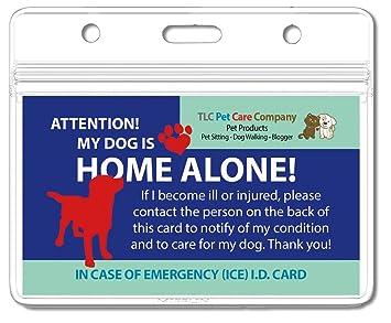 2 unidades - autoadhesivo laminado mi perro es Home Alone alerta ...