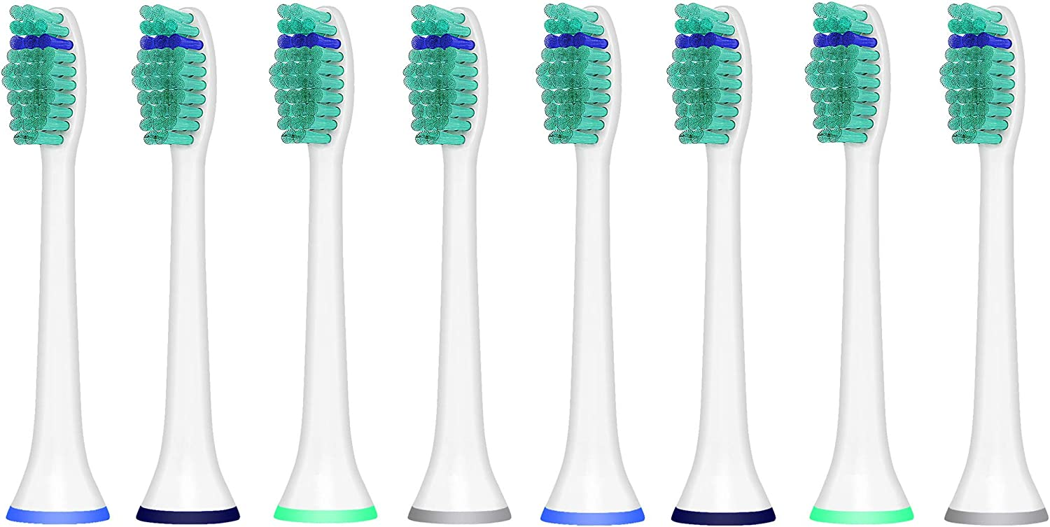 iHealthia Replacement Brush Heads Compatible with Philips Toothbrush Proresults HX6013, 8 Pack, Fits Plaque Control, Gum Health, Diamond Clean, Flex Care, Healthy White, Easy Clean