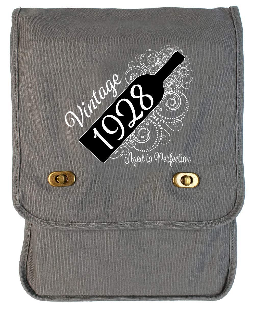 Aged Like a Fine Wine Flamingo Raw Edge Canvas Messenger Bag Tenacitee Born in 1928