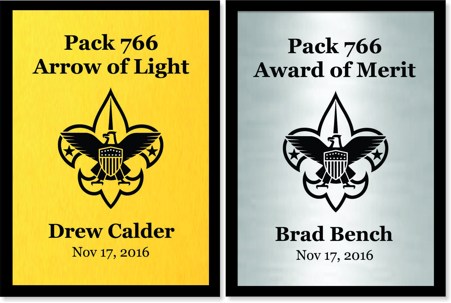 Scout Plaque/Recognition Award - Customized