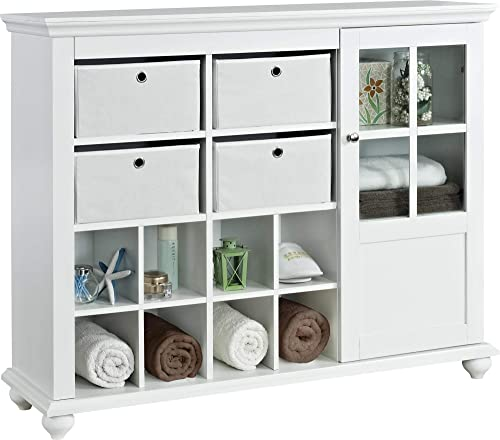 Ameriwood Home Reese Park Storage Cabinet, White