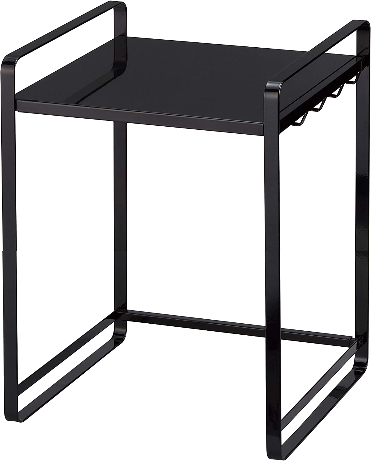 YAMAZAKI home Tower Expandable Kitchen Counter Organizer – Durable Storage Table Shelf, Black