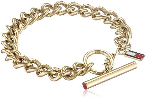 Tommy Hilfiger Jewelry Mujer acero inoxidable Pulsera cadena ...