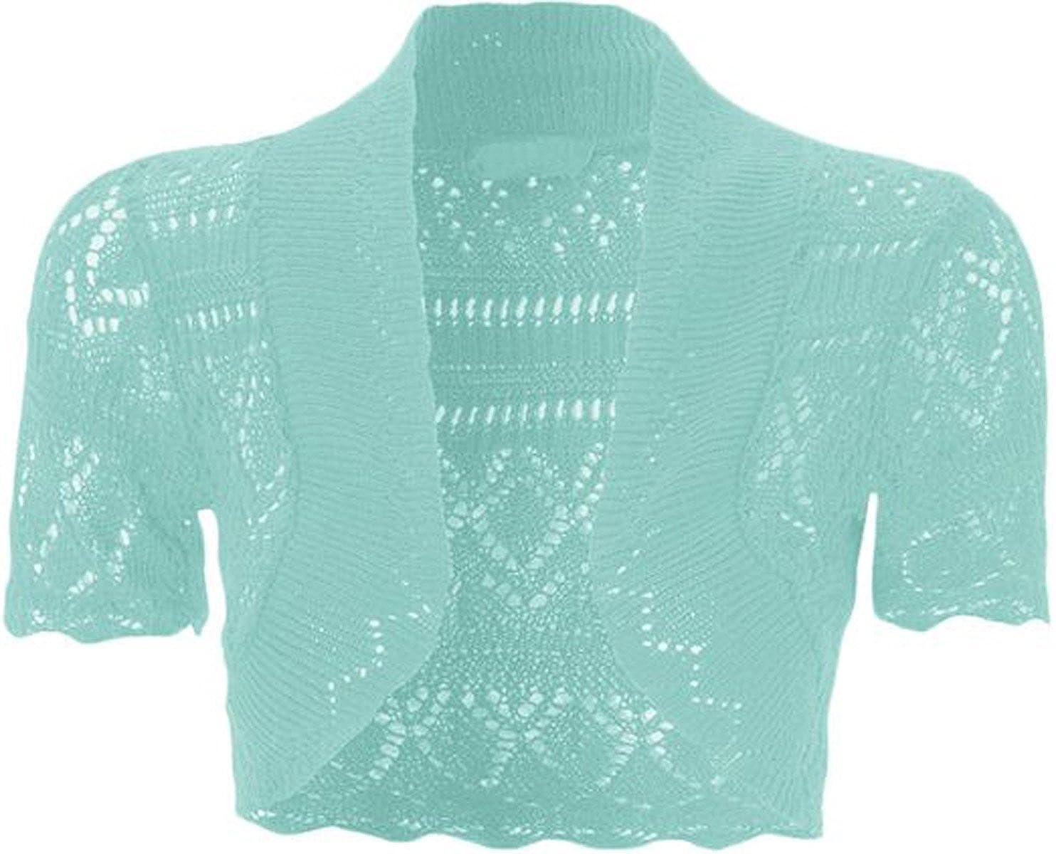 a2378d091b Amazon.com  FashionMark Girls Kids Crochet Knitted Bolero Shrug Top   Clothing