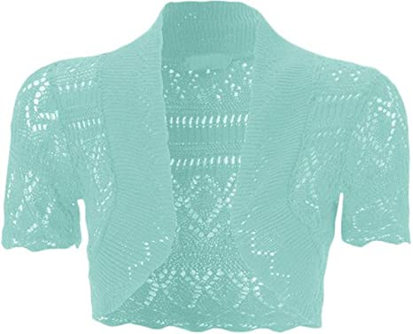 e053fa08b1 Image Unavailable. Image not available for. Color  FashionMark Girls Kids  Crochet Knitted Bolero Shrug Top