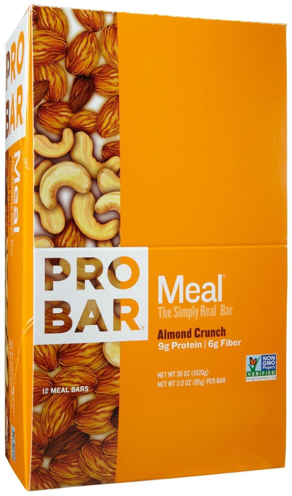 Probar Meal Bars - Almond Crunch - 3 oz - 12 ct