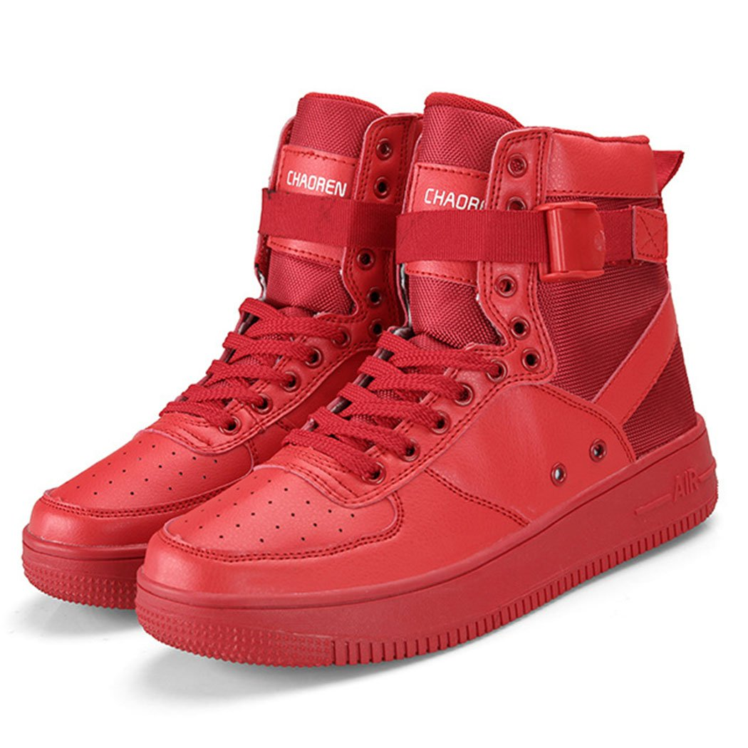 GAOLIXIA Zapatos de atletismo para hombre Primavera/verano Botas de piel artificial Botas de deporte de moda Zapatos casuales Zapatos para caminar Senderismo Desert Travel Camping 40|Rojo