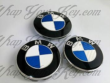 4 5 3 X1,X2,X3,X4,X5,X6,Z1,Z3,Z4,Z8, 2 6 Negro Blanco Fibra de Carbono Emblema Insignia Vinilo Revestido Pegatina Envolvente para BMW Cap/ó Maletero Llantas Wheels Todos Serie 1 7