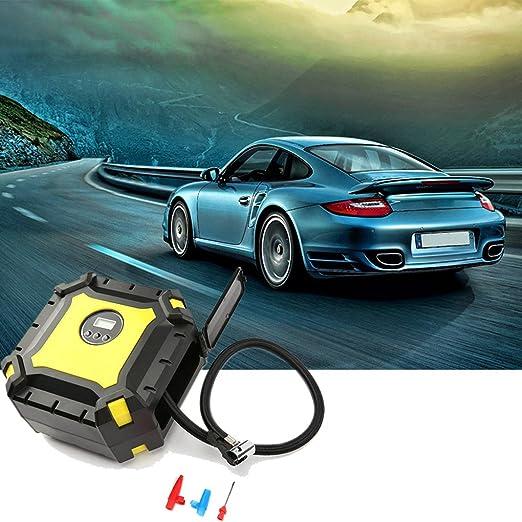 Coco M digital inflador de neumáticos, coche neumático inflador portátil, LED indicador de presión digital, 12 V 60PSI Portable neumático bomba eléctrica ...