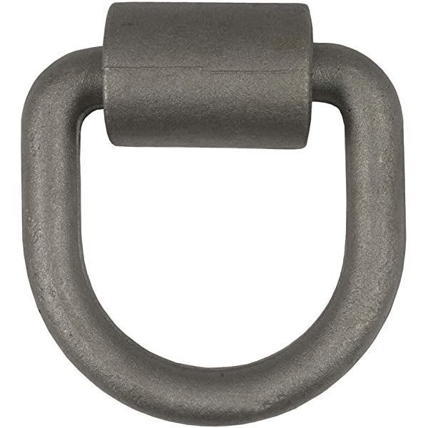 5//8-Inch Diameter Ring Break Strength CURT 83750 4-1//4-Inch x 4-1//4-Inch Weld-On D-Ring Tie Down Anchor 18,000 lbs
