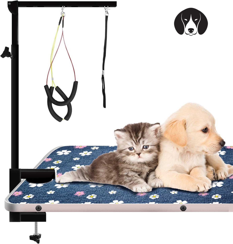 """Dog Grooming Arm 36/"""" Adjustable Arm,Grooming loop+TWO FREE No Sit Haunch Holders"""