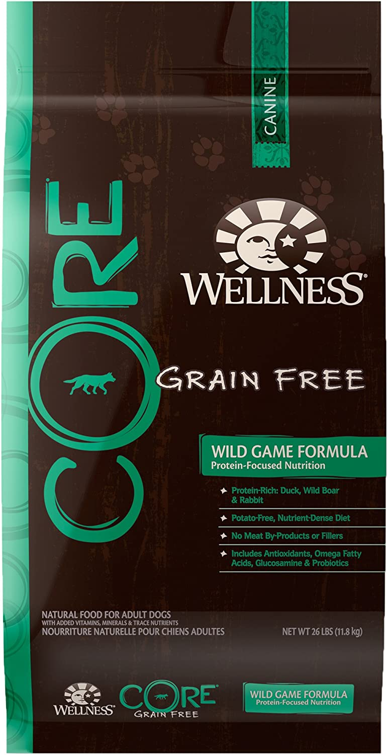Wellness CORE Natural Grain Free Dry Dog Food, Wild Game Duck, Turkey