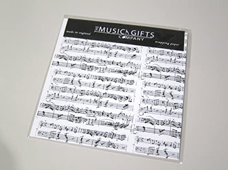 Instrument White Music Gift Wrap 3 sheets /& 3 tags