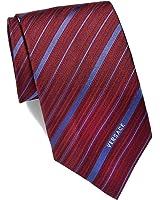 Versace Men's Multi Striped Woven Silk Necktie