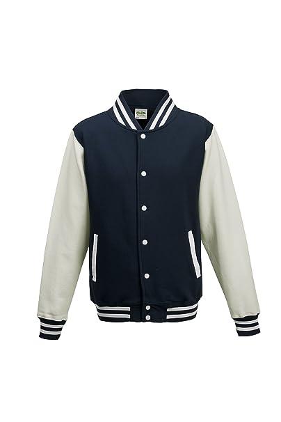 Varsity - Chaqueta Oxford de color azul marino/blanco, talla ...