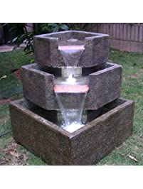Smart Living Cascadia Falls Electric Corner Fountain Designed To Be Durable  And Low Maintenance With A
