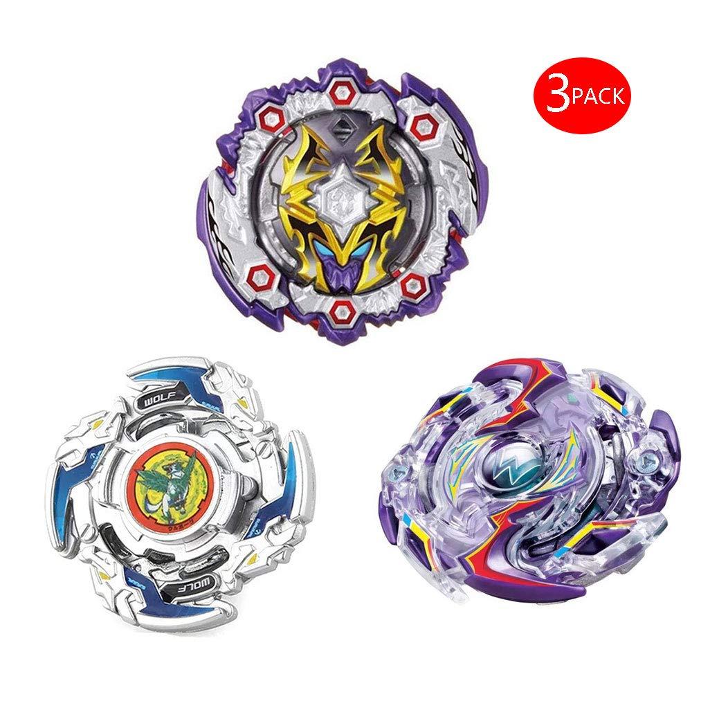 JIENI Beyblade Burst Starter - Gyro Beyblade Creative Cadeau Jouet - Puzzle Jouets Éducatifs Set de Combat (3 toupies + 3 lanceurs) - B125+B1213+B41