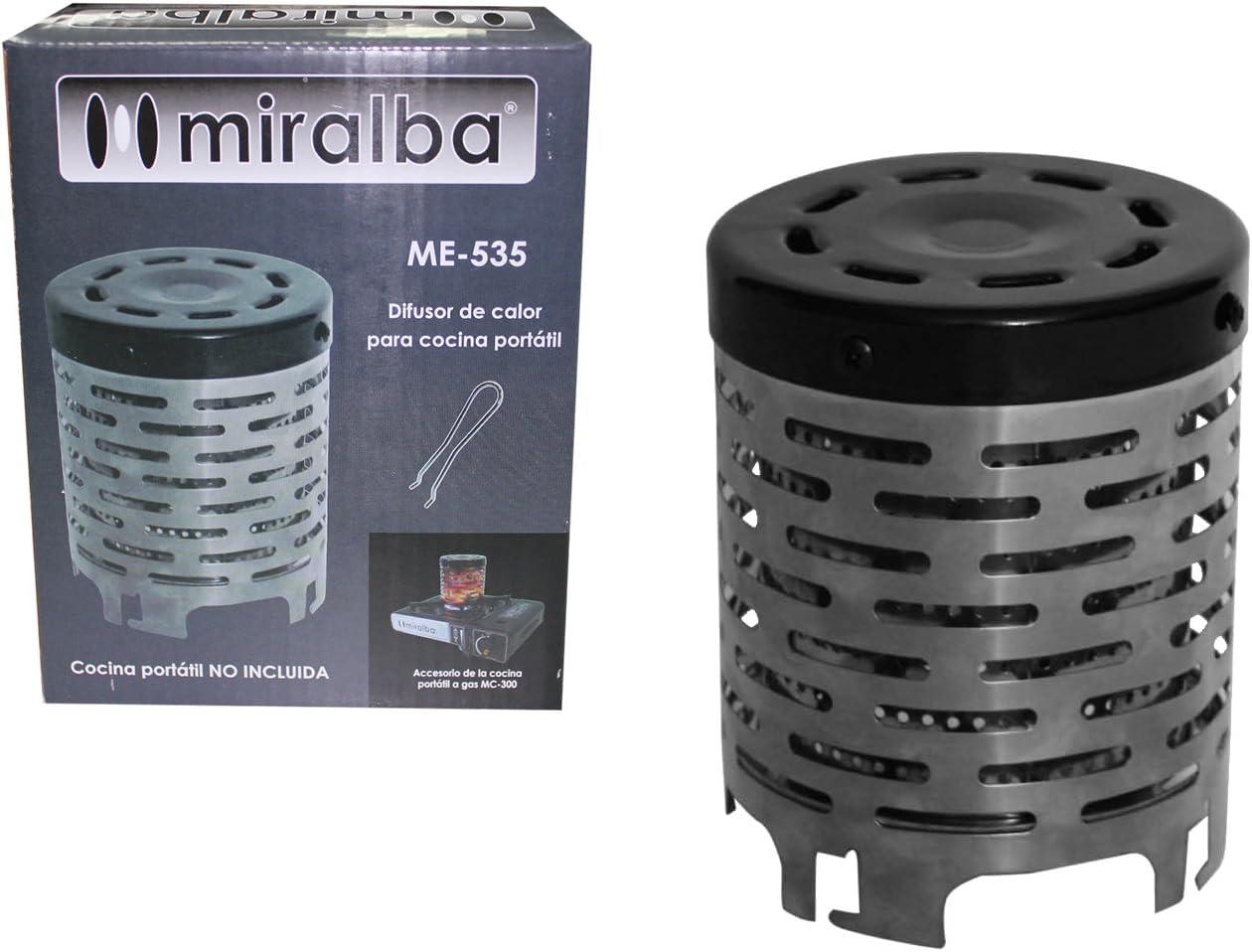 Miralba ME-535 Difusor de Calor, Negro, 12.00x12.00x15.00 cm