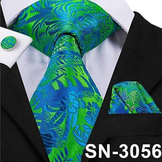 XZ Corbata de moda para hombre Corbatas verdes Corbata floral ...