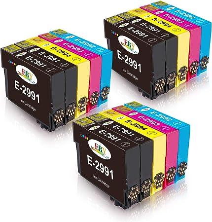 Image of EBY Compatible Epson 29XL Cartuchos de Tinta con Epson Expression Home XP-245 XP-235 XP-247 XP-255 XP-345 XP-332 XP-342 XP352 XP432 XP-442 XP-445 XP-452 XP335 (6 Negro, 3 Cian, 3 Magenta, 3 Amarillo