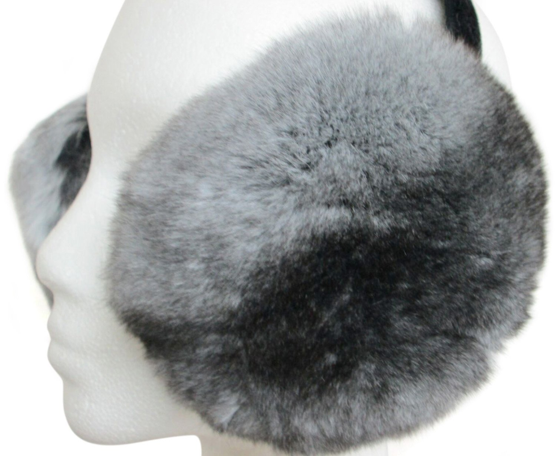 Natural Chinchilla Ear Muffs by FursNewYork (Image #1)