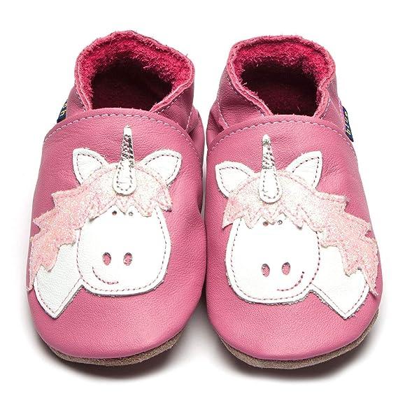 Inch Blue Chaussures Bébé Chaussons en Cuir Rose Licorne  Amazon.fr   Vêtements et accessoires 4ed8903ce272