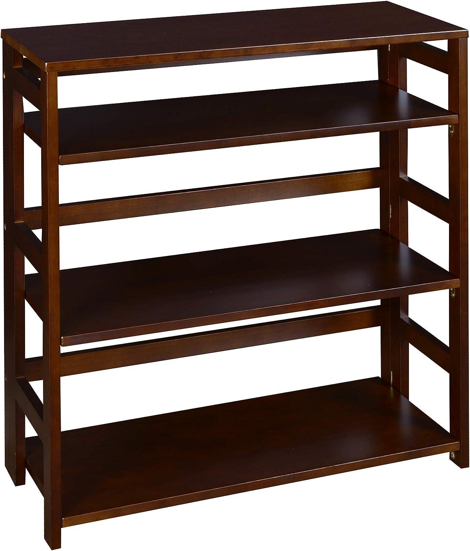 """Niche Flip Flop Folding Bookcase, 34"""", Choclate"""