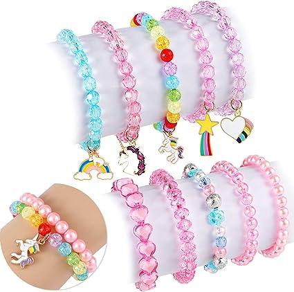 Kindergeburtstag Zubehör buntes Armband Freundschaftsband geflochten 6 Stück