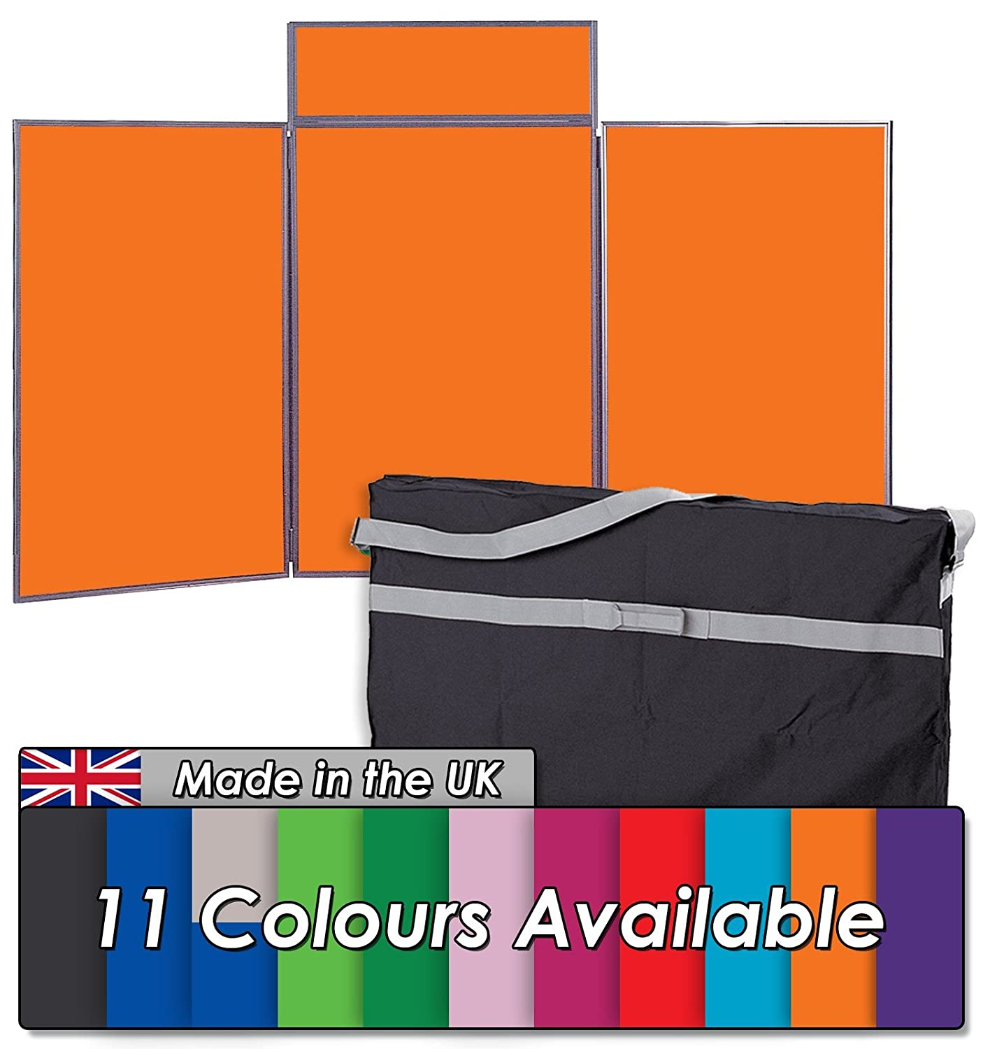 Offices Black with Grey Frame 11 Colours Exhibitions For Schools Tabletop Display Kit 3 Large Panels with Bag /& Header