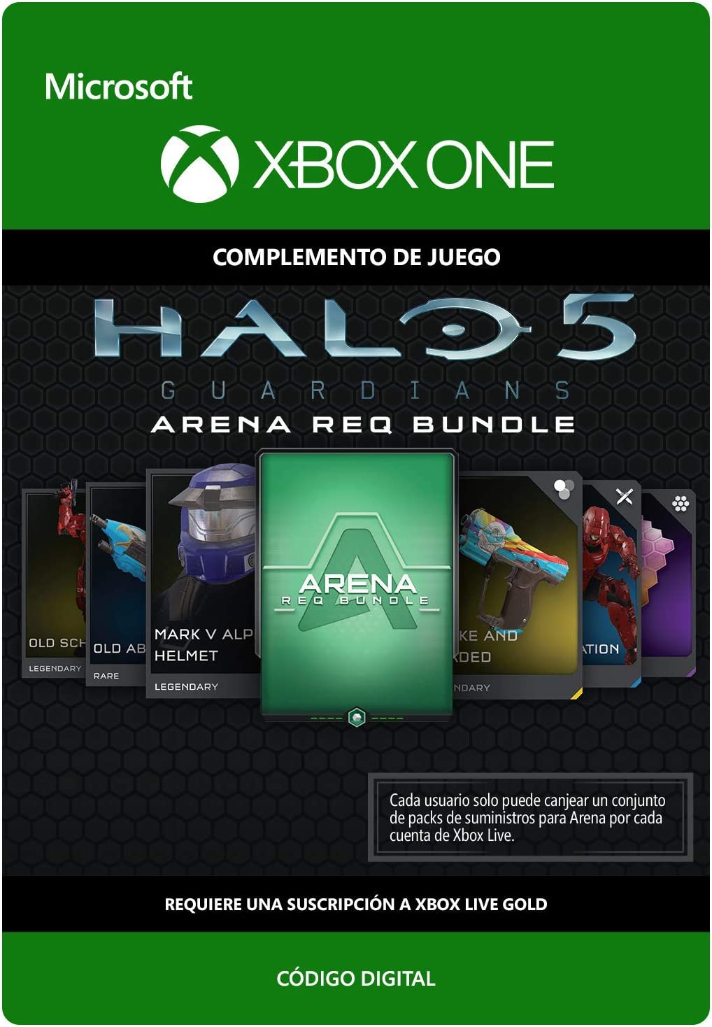 Halo 5 Guardians: Arena REQ Bundle | Xbox One - Código de descarga ...