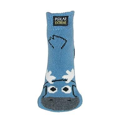 Polar Extreme - Calcetines de estar por casa - Animal Print - para mujer Azul azul Talla única: Amazon.es: Ropa y accesorios