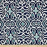 Dwell Studio New Damask Marine Fabric By The Yard offers