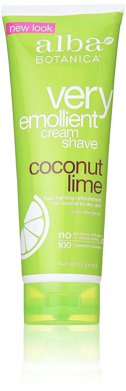 Alba Botanica Shave Creme Coconut Lime, Pack of 2 LB0020