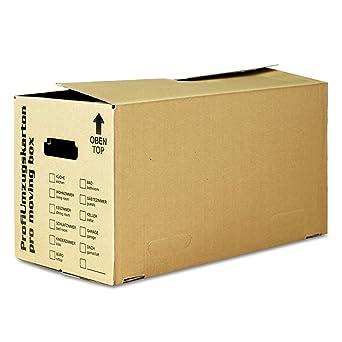 40 x – Cajas de Mudanza Estable, tamaño L, 2 ondulaciones, color marrón