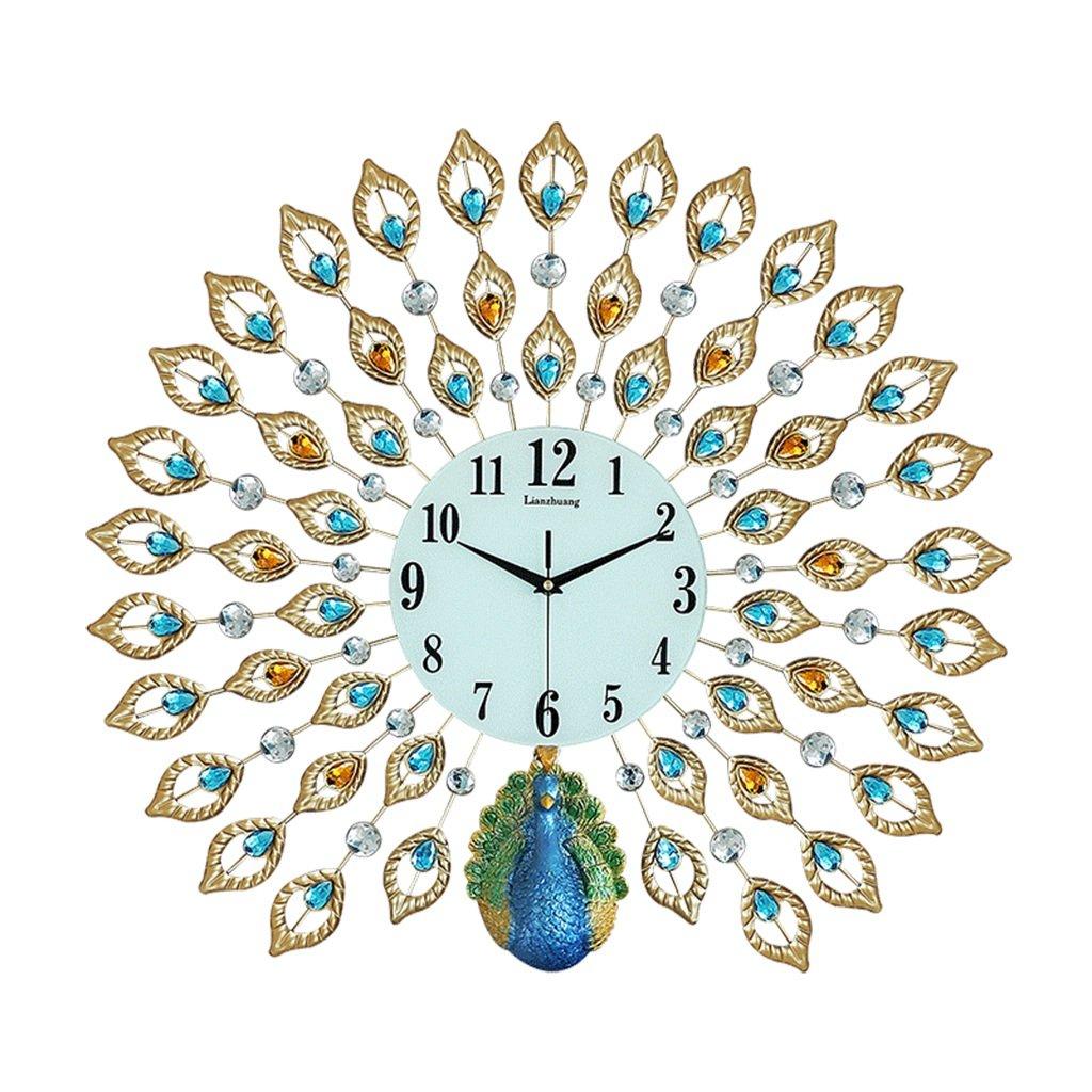 JCRNJSB® ピーコックウォールクロック、リビングルームヨーロピアンスタイルクリエイティブ時計ホームミュート時計モダンな装飾ポケット時計中国スタイル 壁掛けサスペンション クロックウォールクロック クォーツ時計 (色 : #1) B07CVSQQ27 #1 #1
