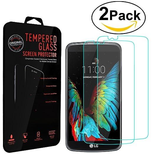 2 opinioni per 2 Pack LG K10 Pellicola Protettiva , Leathlux® Pellicola Protettiva in Vetro