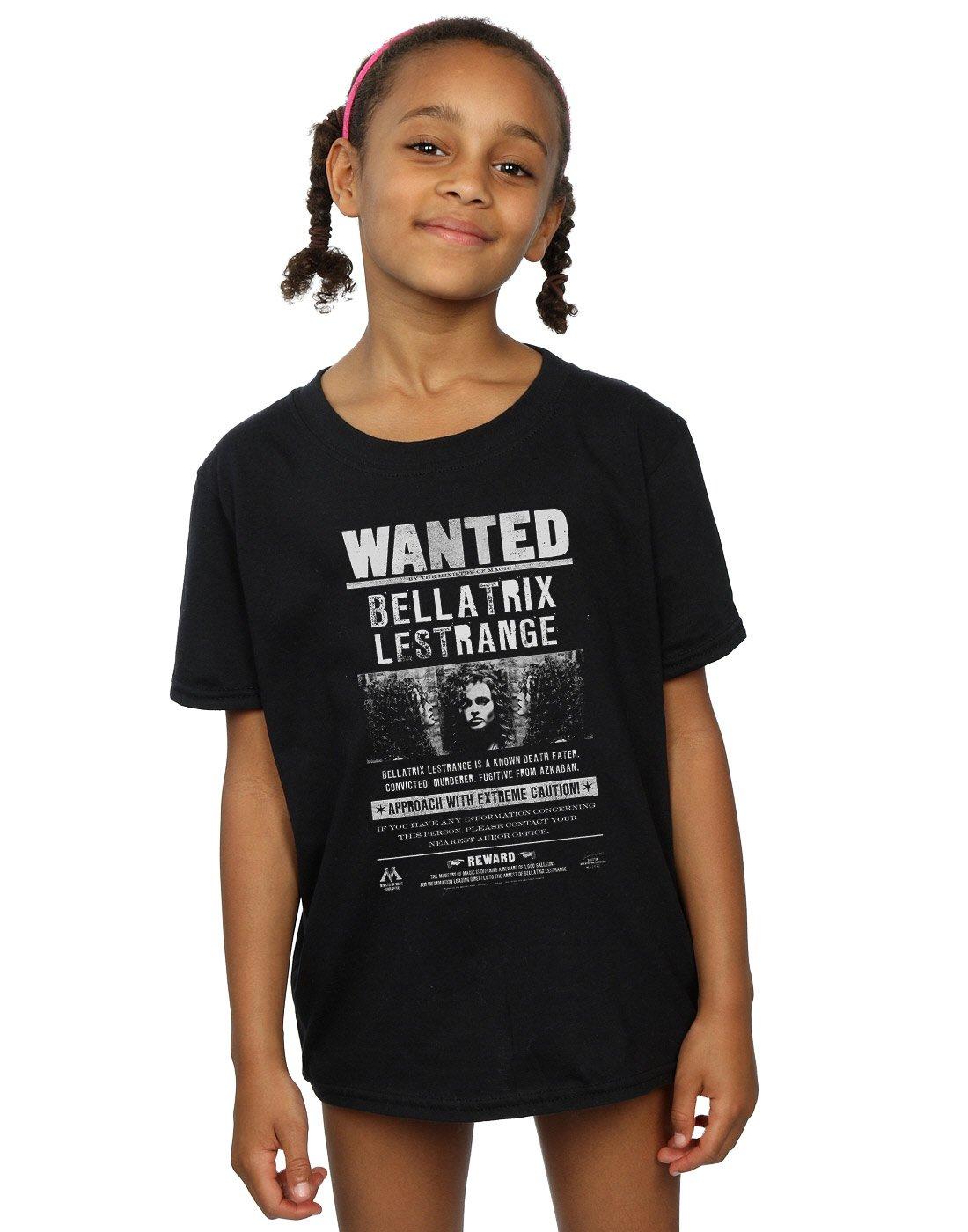 Harry Potter Bambine e Ragazze Bellatrix Lestrange Wanted Maglietta Absolute Cult