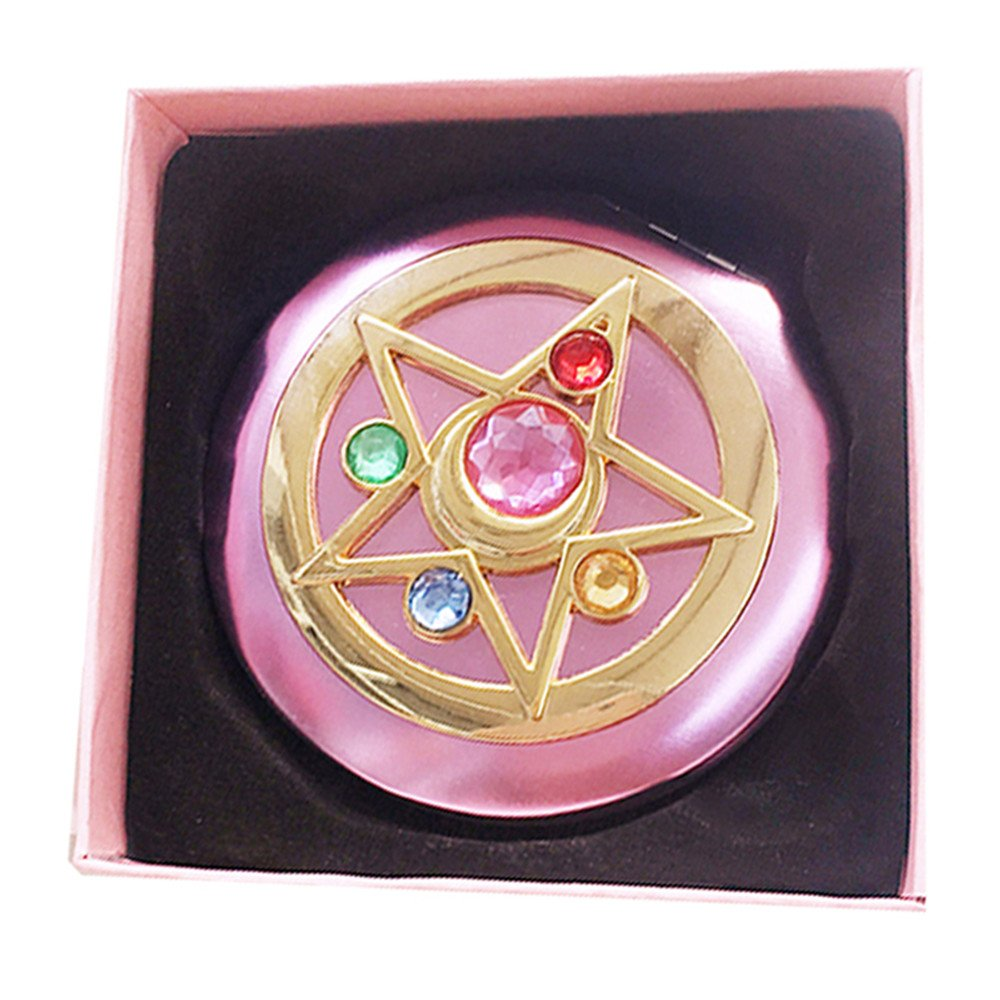 FYMSM Sailor Moon Moonlight Memory Series Crystal Star Mirror Case Cosmetic Make up Mirror Gift