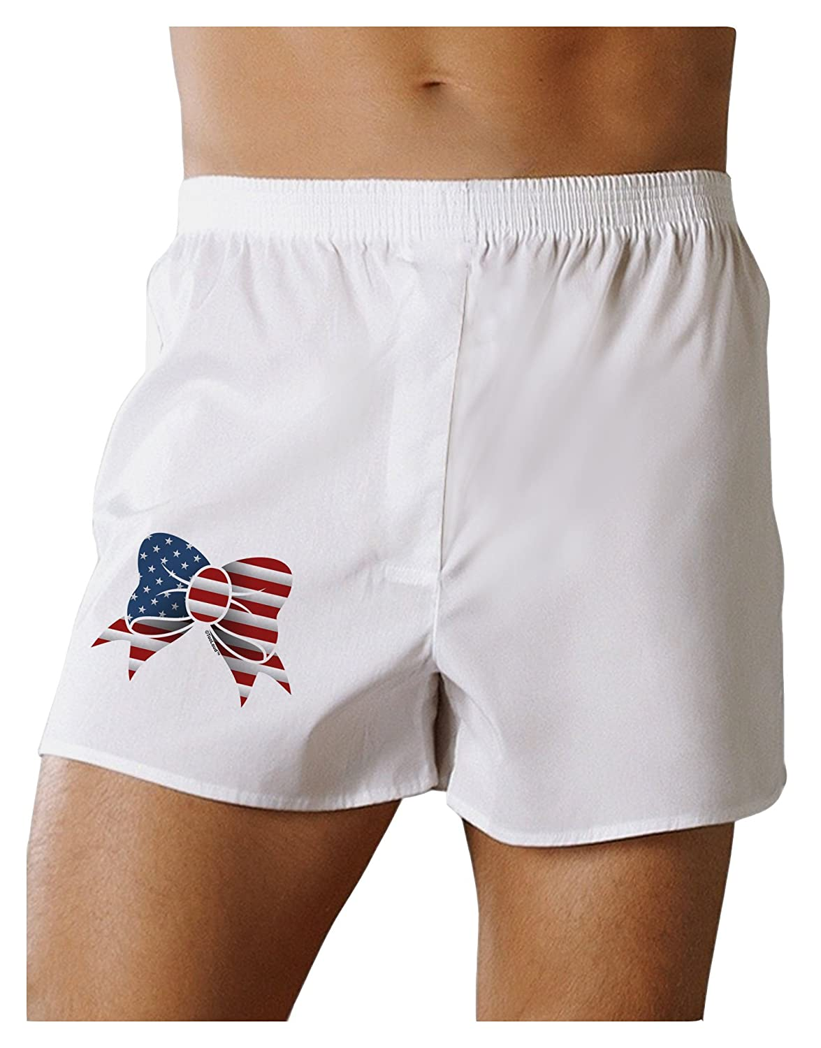 TOOLOUD Patriotic Bow Boxers Shorts