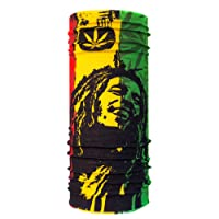 Autofy Bob Marley  Lycra Unisex Headwrap (Red, Yellow and Green, Free Size) for bikes