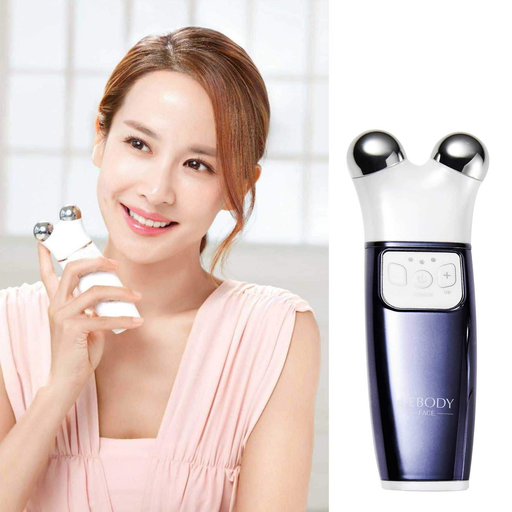LEBODY FACE Micro-current Generator Facial Toning Device Home Skin Care Massager (BLUE)