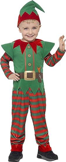 Smiffys Smiffys-21489T2 Disfraz de Elfo para niño pequeño, con ...