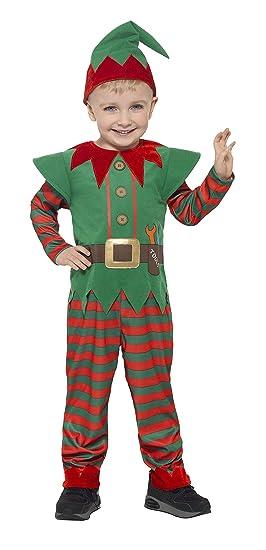 Smiffys Smiffys-21489S Disfraz de Elfo para niño pequeño, con ...