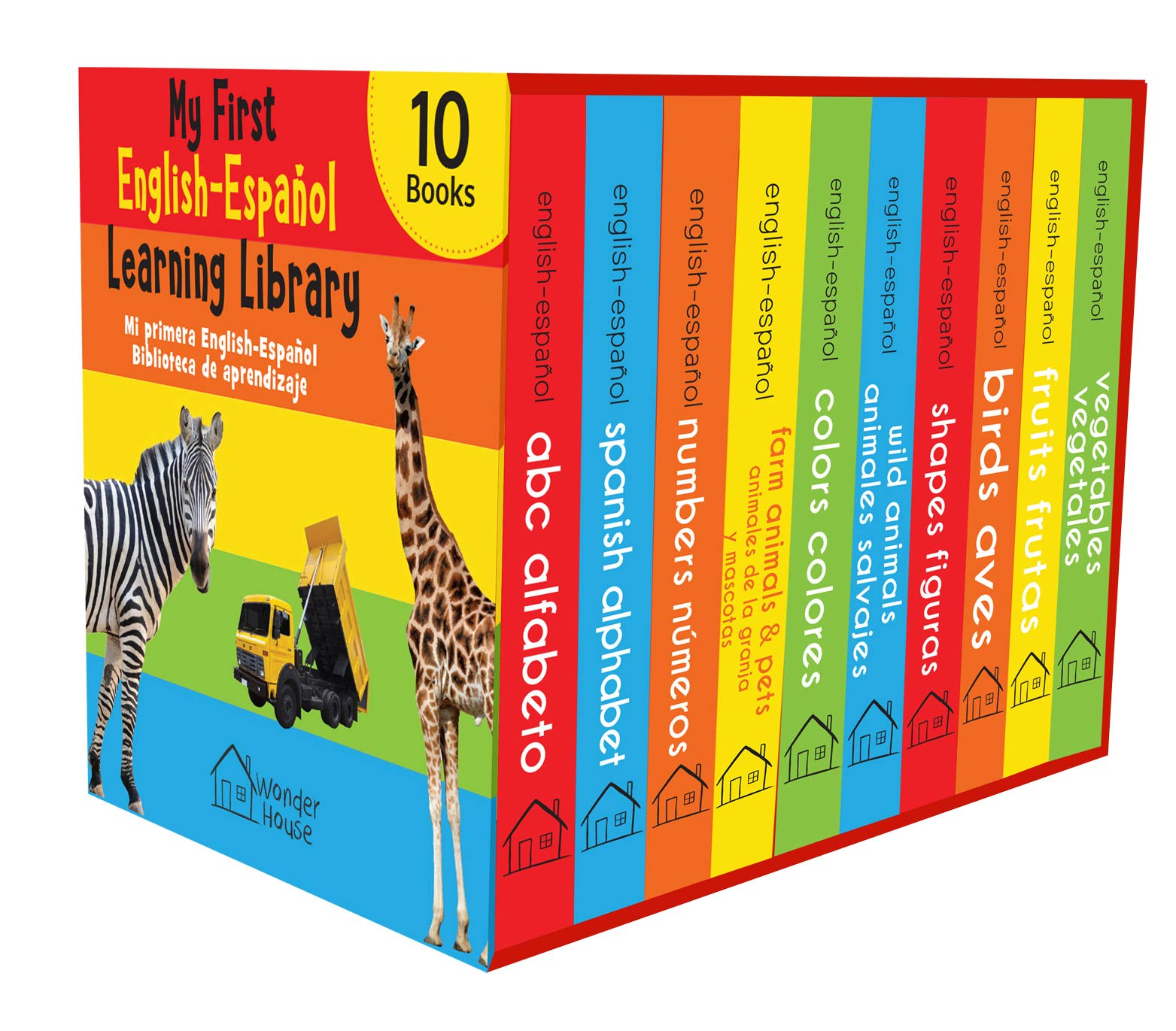 My First English – Español Learning Library (Mi Primea English – Español Learning Library) : Boxset of 10 English – Spanish Board Books