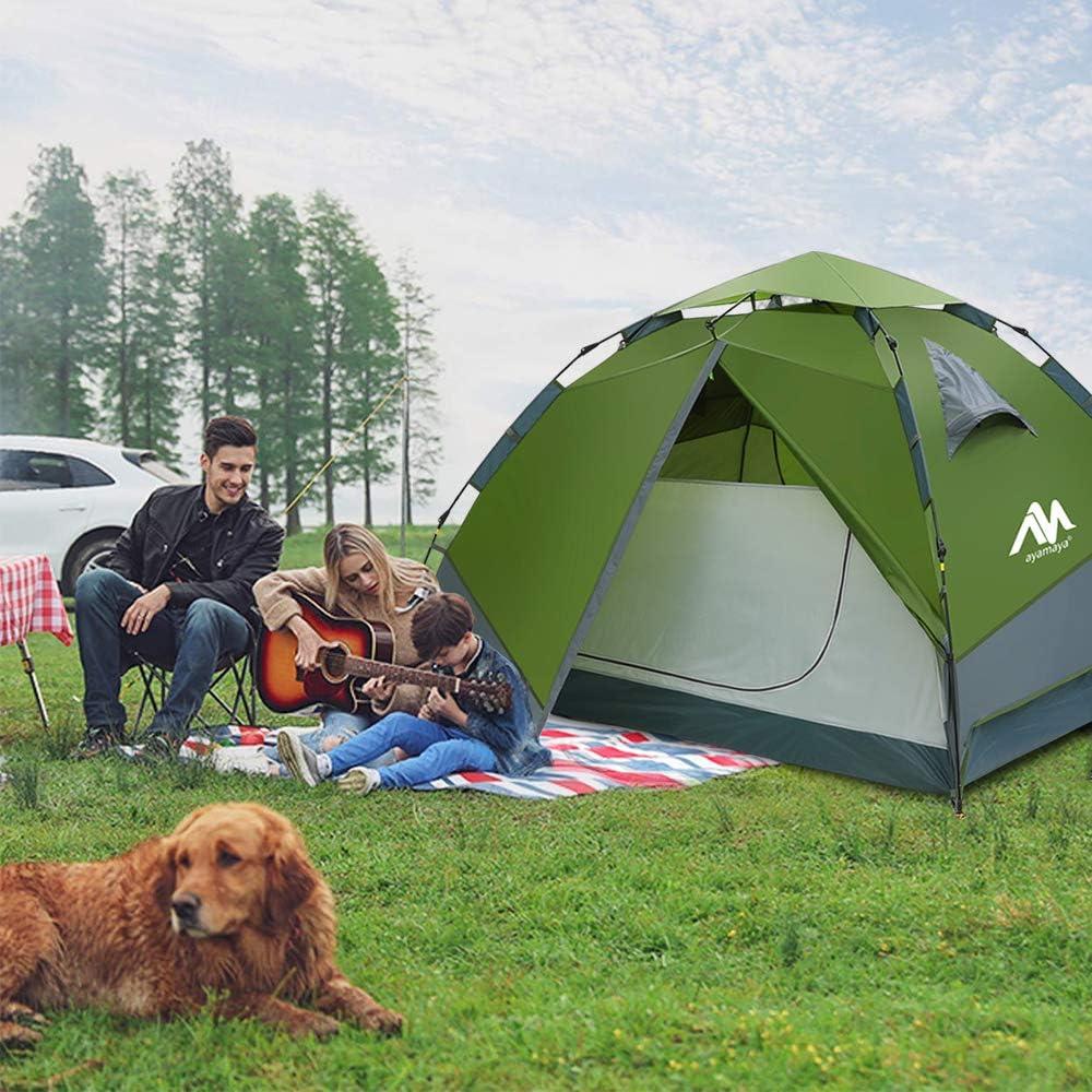 Zelt 3-4 Personen Wasserdicht Sekundenzelt Campingzelt Kuppelzelt Wurfzelt mit Quick-Up-System Doppelwandig Schnellaufbauzelt Festival Pop Up Zelt f/ür Camping Wandern Reisen Strand 2 T/üren