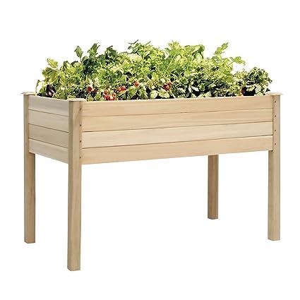 Amazon Com Kinbor Raised Vegetable Patio Garden Bed Elevated